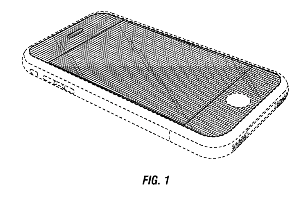 Image of Original iPhone Design Patent Filed by Apple