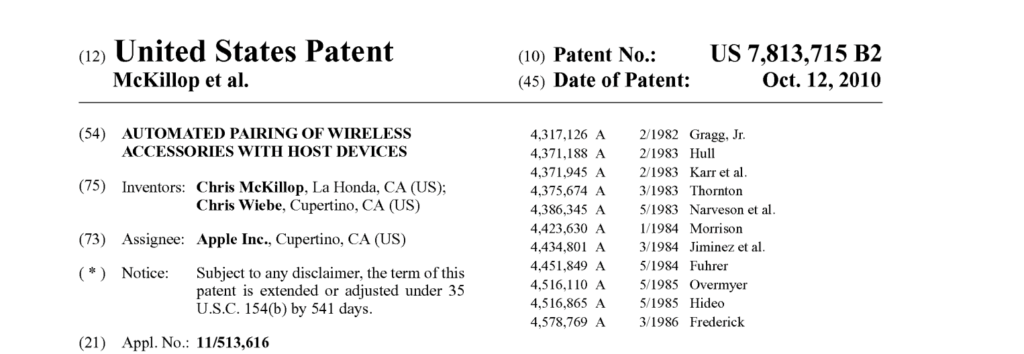 Software Utility Patent by Apple Qualified as a Process