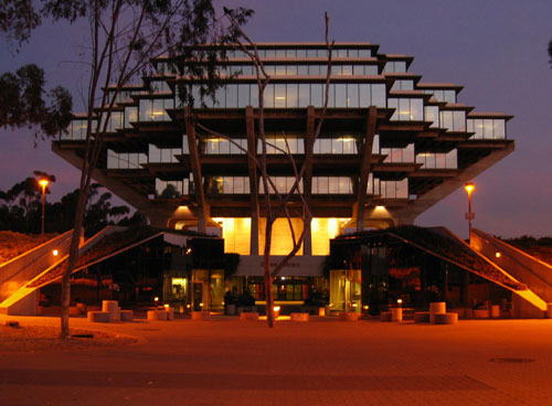 San Diego Geisel Library at Night