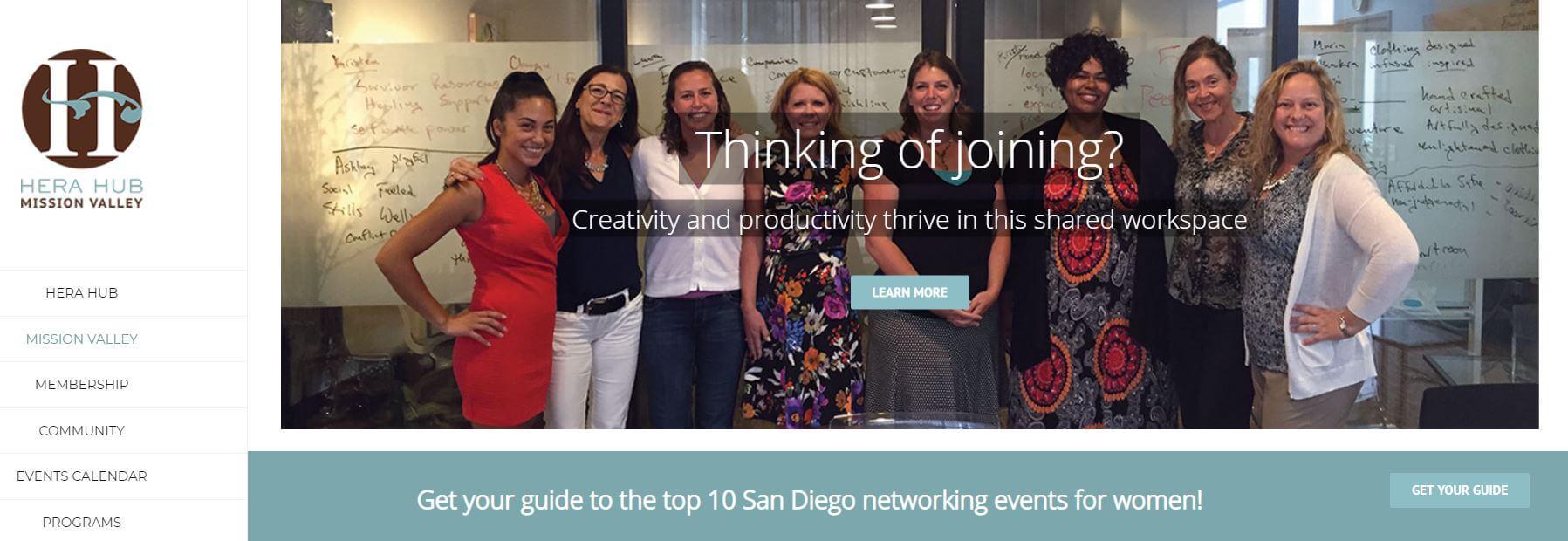 Hera Hub San Diego Website Image