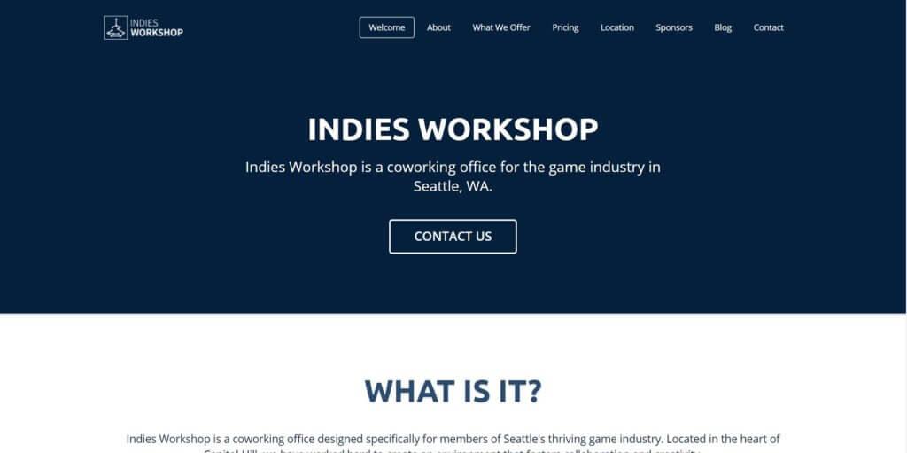 Indies Workshop Seattle Coworking Space