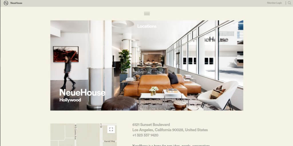 NeueHouse Hollywood Los Angeles Coworking Space