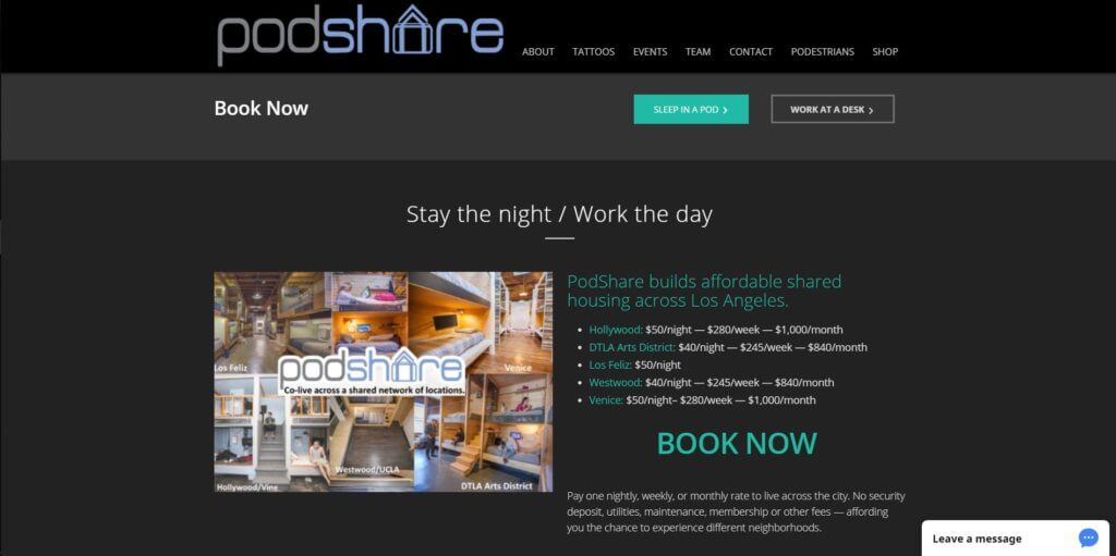 Podshare Los Angeles Coworking Space