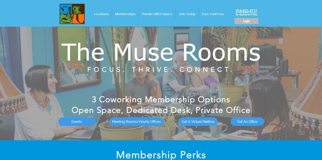 The Muse Rooms Los Angeles Coworking Space