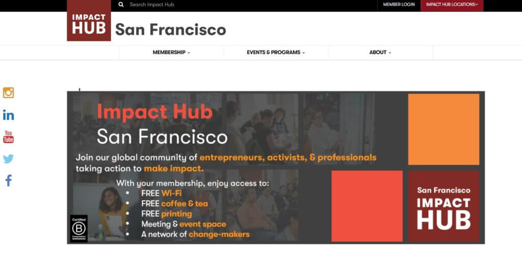 Impact Hub Bold Patents Coworking Spaces in San Francisco