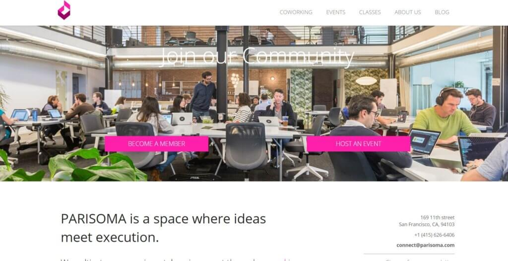 Parisoma Bold Patents Coworking Spaces in San Francisco