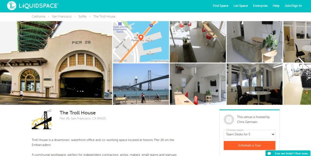 The Troll House Bold Patents Coworking Spaces in San Francisco