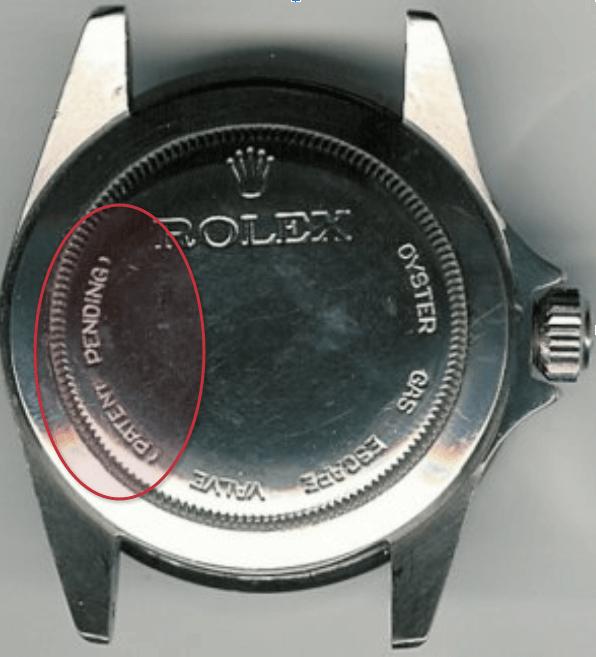 Rolex - patent pending