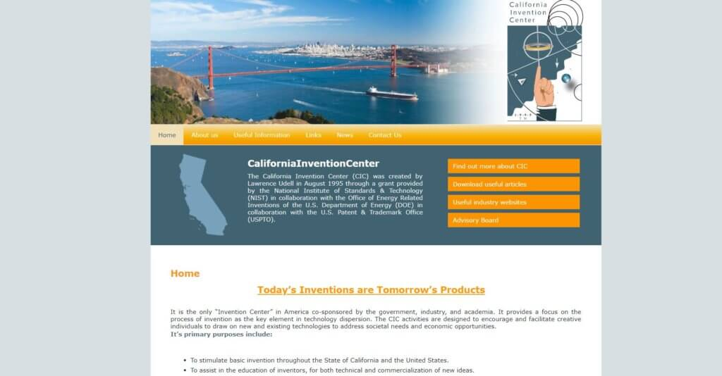California Invention Center Bold Patents Entrepreneur and Inventor Resources in San Francisco
