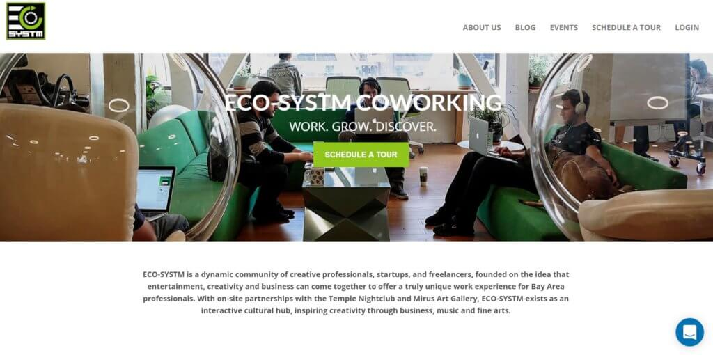 ECO-SYSTEM Bold Patents Coworking Spaces in San Francisco