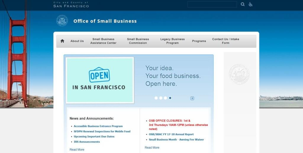 San Francisco Office of Small Businesses Bold Patents Entrepreneur and Inventor Resources in San Francisco