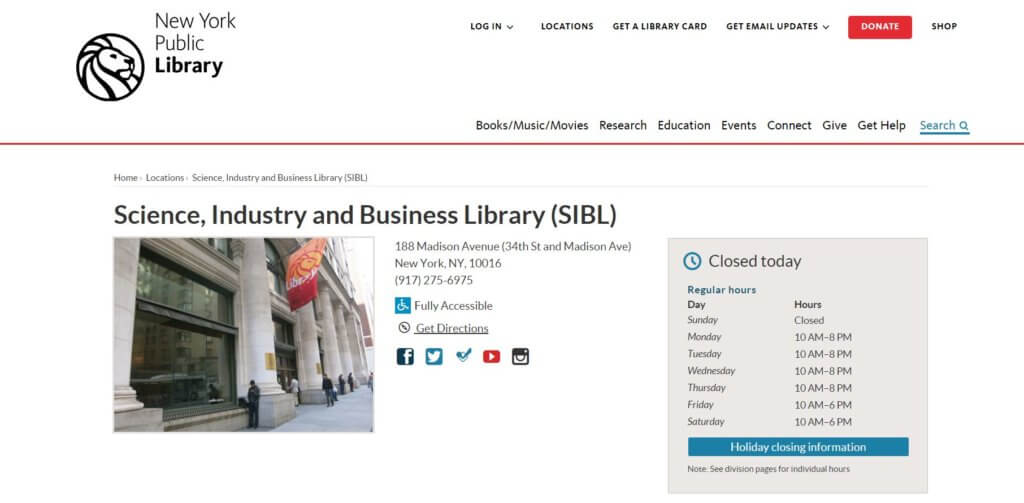 Science, Industry and Business Library 23 Resources for Entrepreuers and Inventors in New York Bold Patents