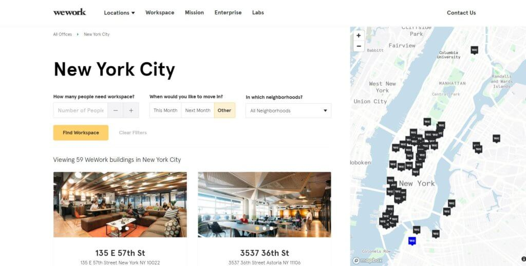 Top 17 Coworking Spaces in New York City WeWork Bold Patents