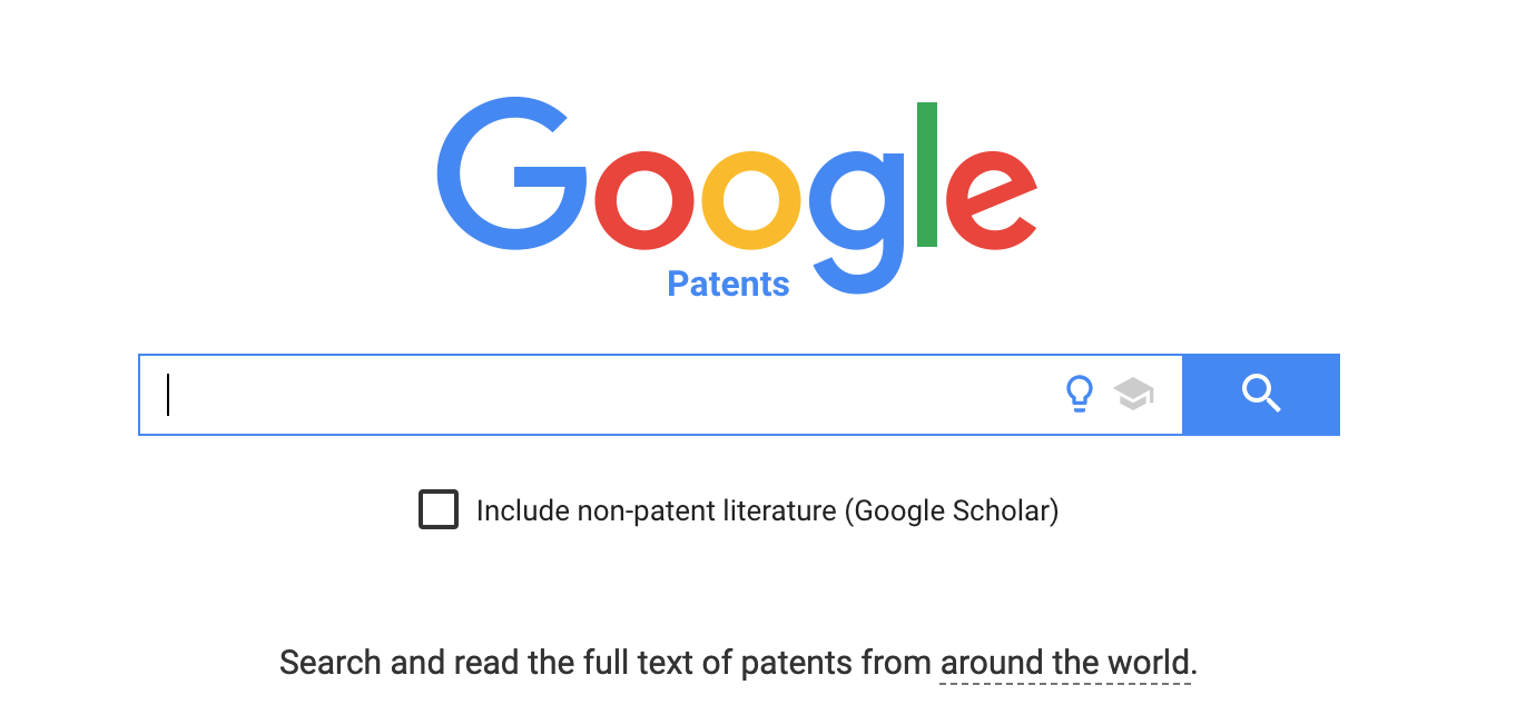 google patents search home page