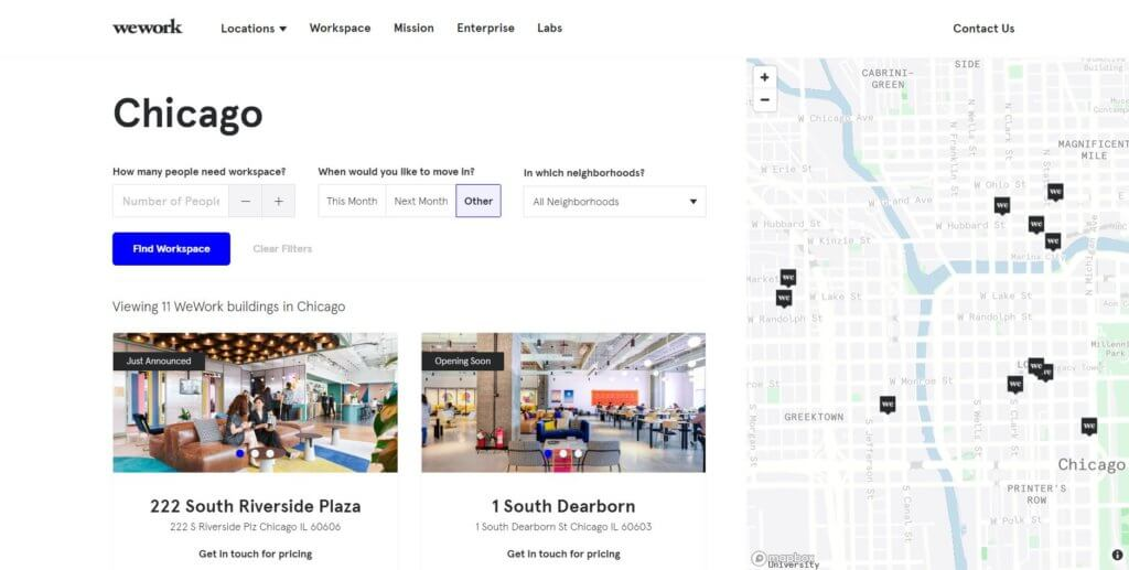 WeWork-Chicago-Top-17-Coworking-Space-in-Chicago-According-To-Bold-Patents-Website