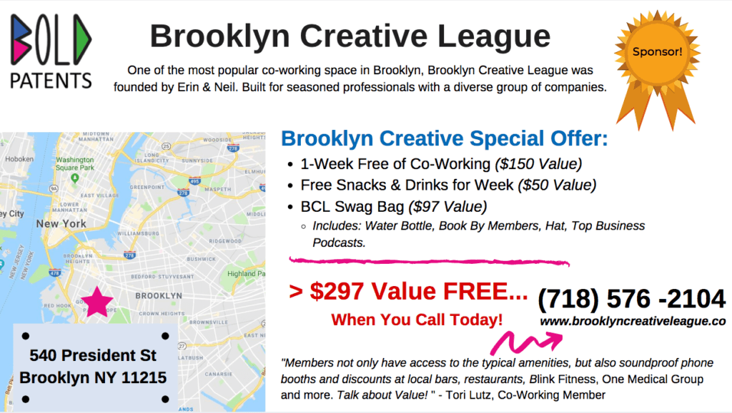 Brooklyn Creative Co-working Special Offer
