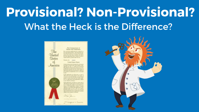 Difference between provisional and non-provisional