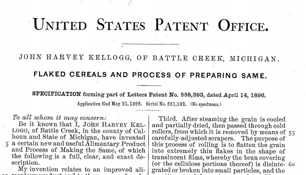 Process patent image for old school circa 1895
