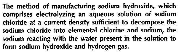 Method of manufacturing sodium hydroxide
