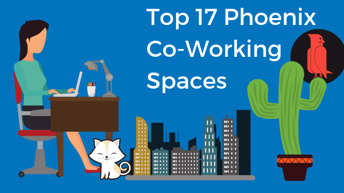 Bold Patents Top 17 Phoenix Coworking Spaces Featured Picture with Working Class Girl and Cactus