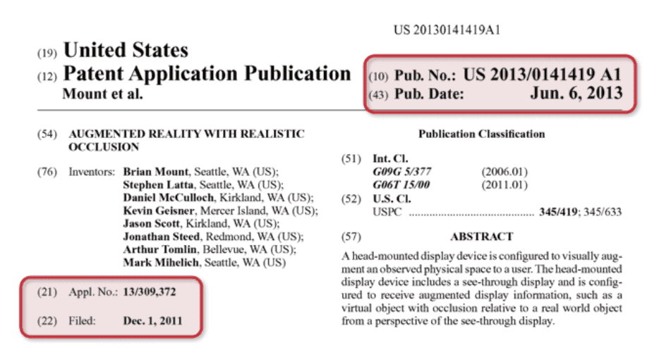 """US 2013/0141419A1"" for the ""Augmented Reality with Realistic Occlusion"""