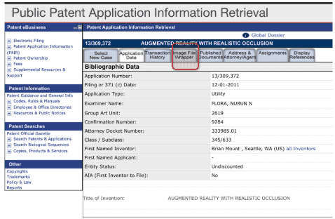 Public Patent Application Information Retrieval