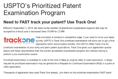 USPTO's Prioritized Patent Examination Program