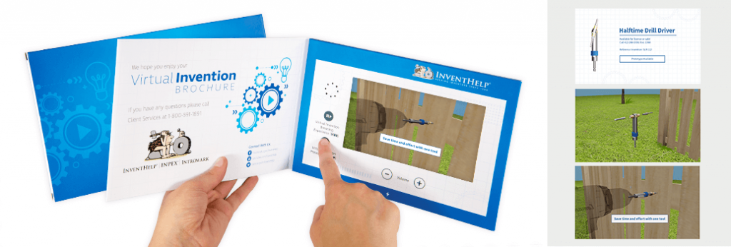 The virtual invention presentation is Invent Help's idea simulation