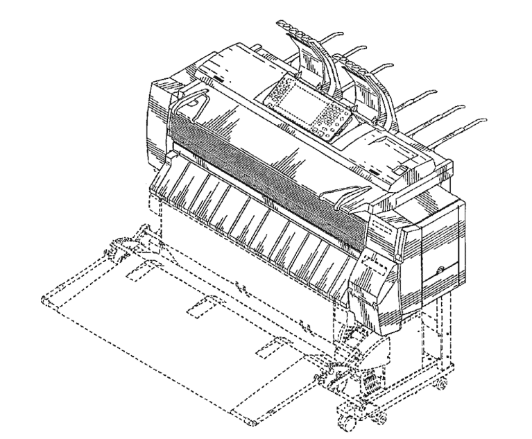 "US Patent D723,100 for a ""Printer"""