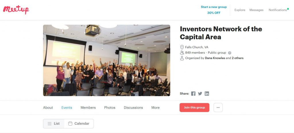 Top 23 Resources for Inventors and Entrepreneurs in Washington DC  according to Bold Patents INCA Meetup Website
