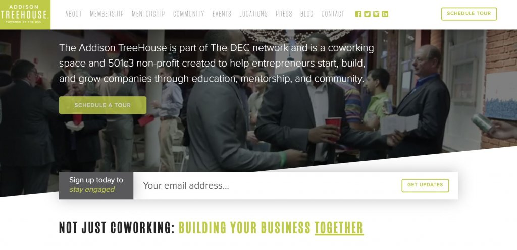 Addison TreeHouse Coworking from Bold Patents Top 17 Coworking Spaces in Dallas website
