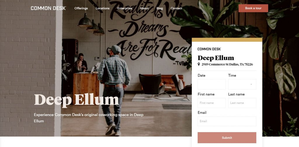 Common Desk - Deep Ellum Dallas Coworking from Bold Patents Top 17 Coworking Spaces in Dallas website
