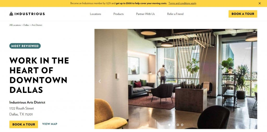 Industrious Dallas Coworking from Bold Patents Top 17 Coworking Spaces in Dallas website