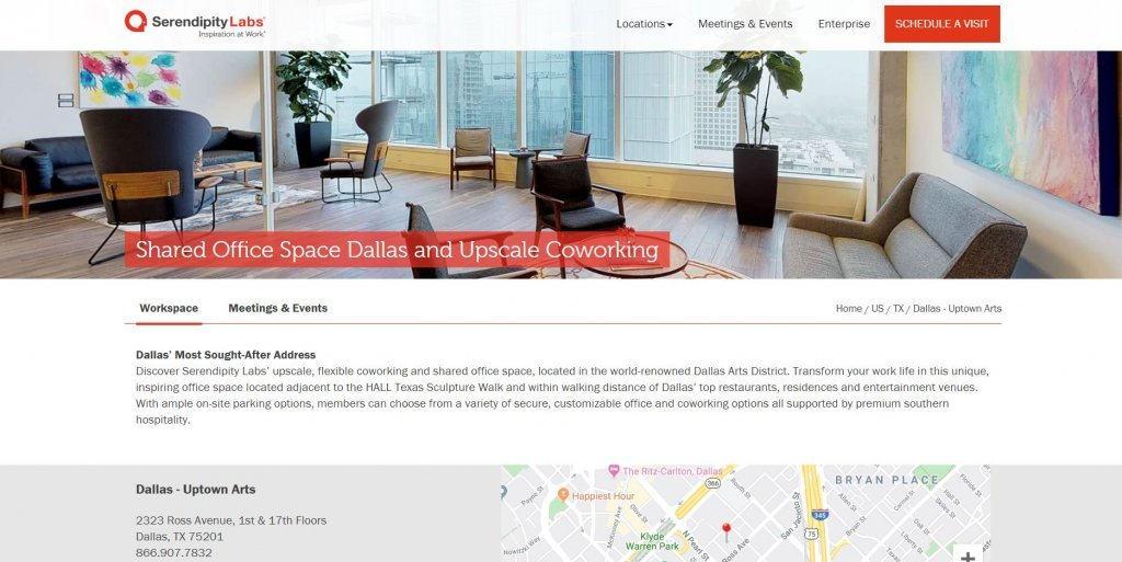 Serendipity Labs Coworking from Bold Patents Top 17 Coworking Spaces in Dallas website