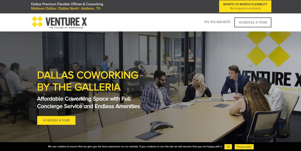 Venture X Coworking from Bold Patents Top 17 Coworking Spaces in Dallas website