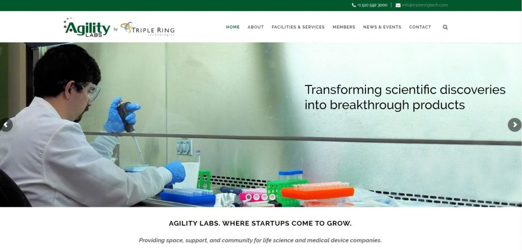 Top 23 Resources for Inventors and Entrepreneurs in Boston Agility Labs incubator website found on Bold Patents website