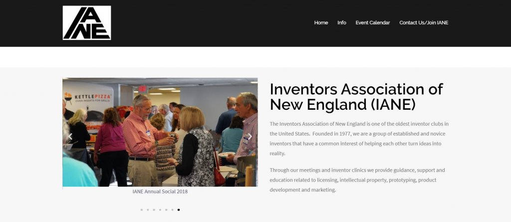 Top 23 Resources for Inventors and Entrepreneurs in Boston Inventors Association of New England (IANE) website found on Bold Patents website